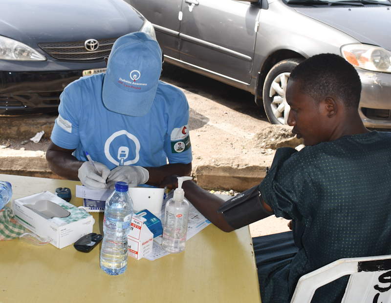 Diabetes Sensitization and Screening at Wuse Market, Abuja
