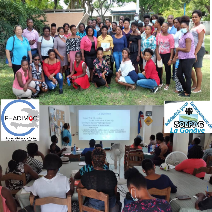 Image taken during and after The FHADIMAC training for all nurses on the island of La Gonâve.